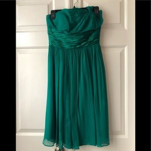 Beautiful one shoulder green cocktail dress
